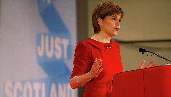 La première ministre écossaise et chef du Parti national écossais (SNP) Nicola Sturgeon - Sputnik France