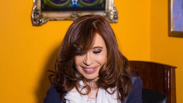 A ex-presidenta da Argentina, Cristina Kirchner, em sua casa na cidade de El Calafate, no sul da Argentina - Sputnik France