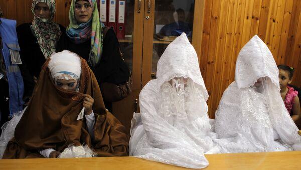 Three Palestinian brides - Sputnik France