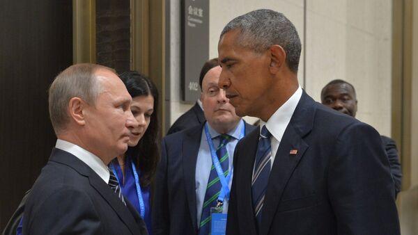 Vladimir Poutine (à gauche) et Barack Obama en Chine - Sputnik France