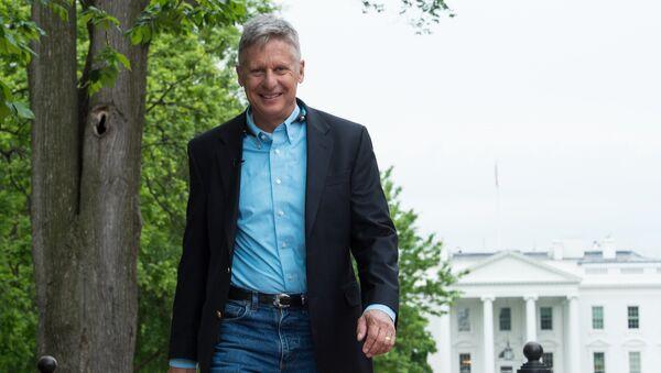 Le candidat du Parti libertarien à la présidentielle américaine Gary Johnson - Sputnik France