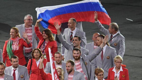 Drapeau russe à l'ouverture des Jeux d'été paralympiques XIV de 2016 à Rio de Janeiro - Sputnik France
