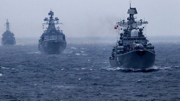Российско-китайские учения Морское взаимодействие-2015 во Владивостоке - Sputnik France