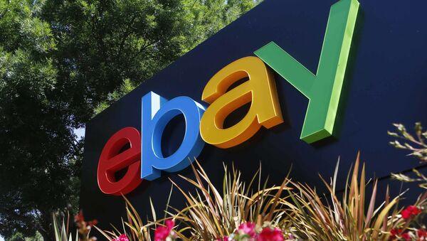 Логотип компании eBay на здании офиса в Сан-Хосе, США - Sputnik France