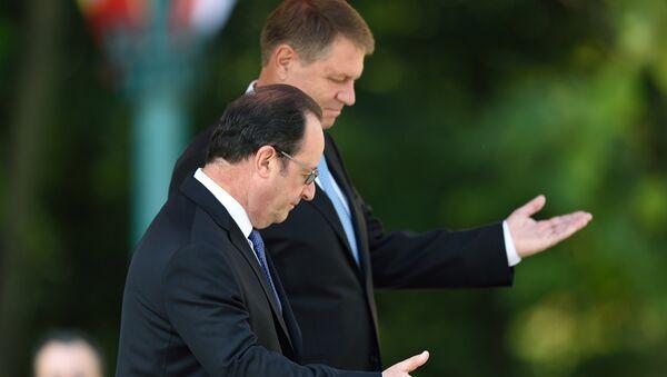 Hollande et Iohannis - Sputnik France