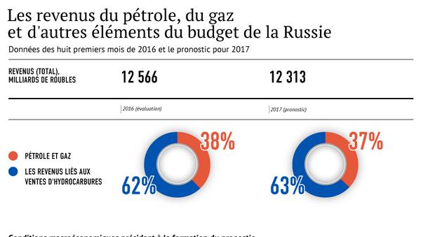 Les revenus du pétrole, du gaz et d'autres éléments du budget de la Russie - Sputnik France