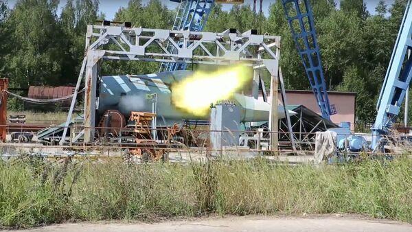 Le test du nouveau canon du T-50 russe - Sputnik France