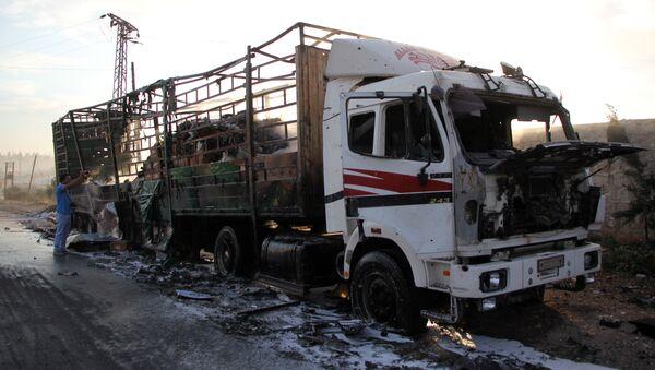 Convoi humanitaire onusien bombardé à Alep: plusieurs victimes - Sputnik France