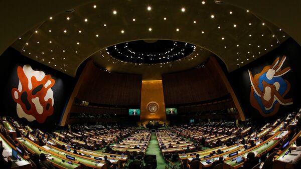 Swiss President Johann Schneider-Ammann addresses the United Nations General Assembly in the Manhattan borough of New York, U.S. September 20, 2016. - Sputnik France