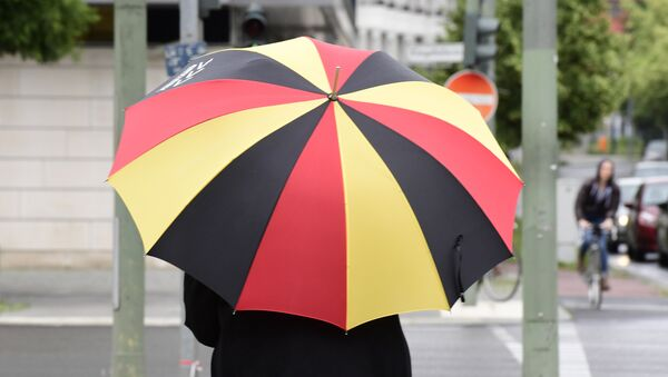 Ein Regenschirm mit CDU-Symbolik - Sputnik France