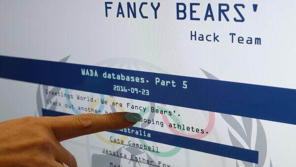 Site de Fancy Bears - Sputnik France