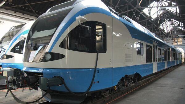 Des trains de la compagnie ferroviaire algérienne SNTF - Sputnik France