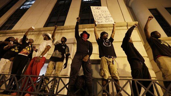 Des manifestants de Charlotte - Sputnik France