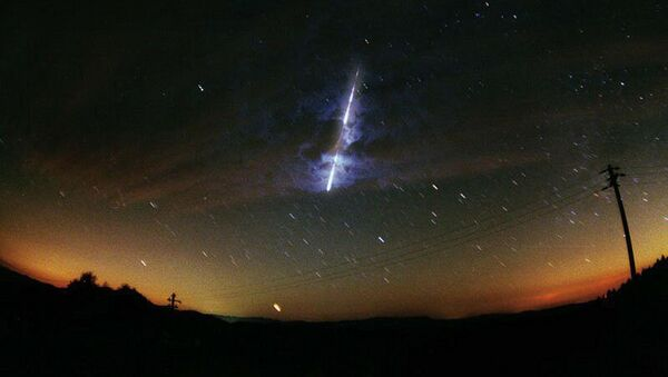This November 2000 NASA file image obtained 06 November, 2001 shows a meteor streaking across the sky during the Leonid meteor shower. - Sputnik France