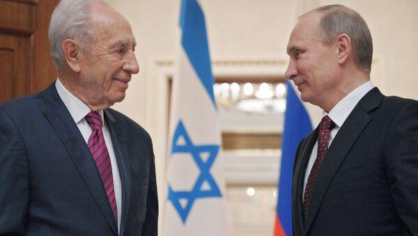 Vladimir Poutine et Shimon Peres - Sputnik France