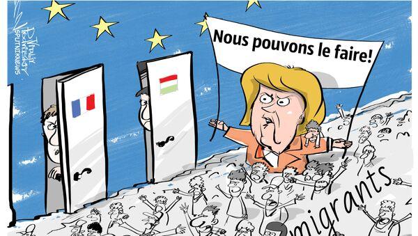 Angela Merkel accusée de trahison lors d'un déplacement à Dresde - Sputnik France