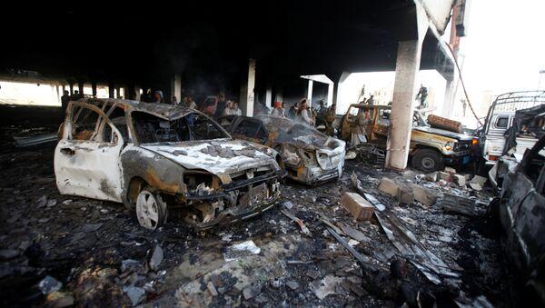 Le site à Sanaa qui a été la cible d'une frappe aérienne de la coalition arabe - Sputnik France