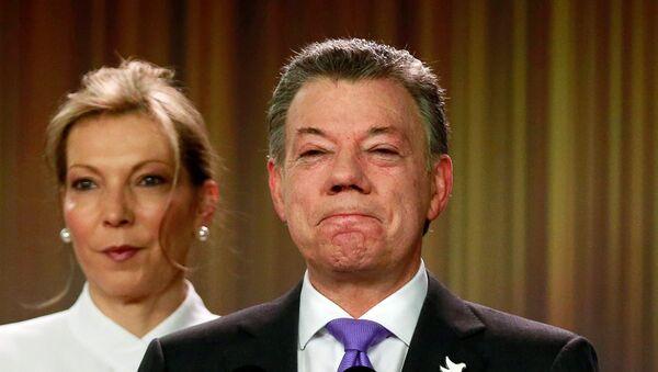 Le président colombien Juan Manuel Santos, prix Nobel de la paix - Sputnik France