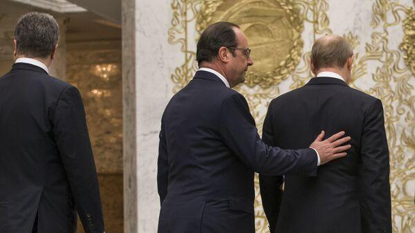Präsidenten Frankreichs und Russland, Francois Hollande und Wladimir Putin (Archivbild) - Sputnik France