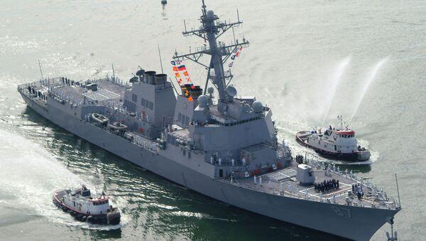 The USS Mason (DDG 87), a guided missile destroyer, arrives at Port Canaveral, Florida, April 4, 2003 - Sputnik France
