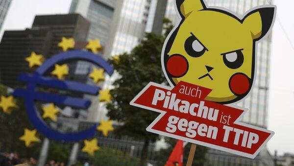 Demonstration gegen TTIP-Abkommen in Frankfurt - Sputnik France