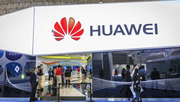 Le stand de Huawei au Salon PT/EXPO China 2014 - Sputnik France