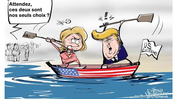 Trump remporte le dernier débat face à Clinton - Sputnik France