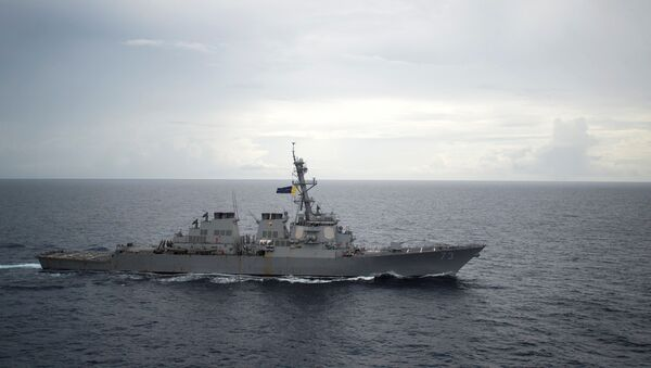 Guided-missile destroyer USS Decatur (DDG 73) operates in the South China Sea as part of the Bonhomme Richard Expeditionary Strike Group (ESG) in the South China Sea on October 13, 2016. - Sputnik France