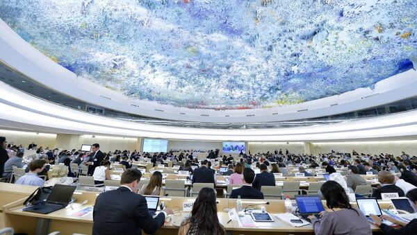 A general view during of the Presentation of the report on the situation in Syria at the Twenty-Seventh session of the Human Rights Council. 16 September 2014. - Sputnik France