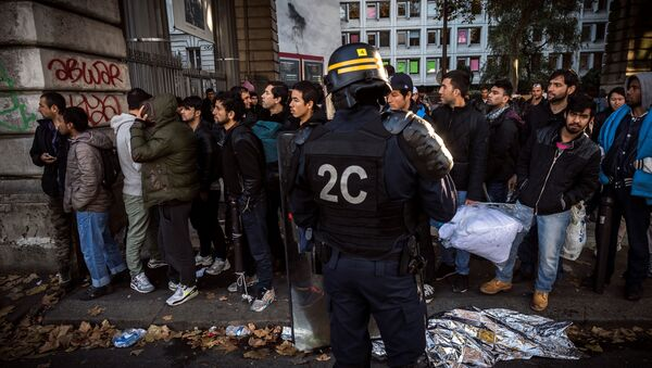 Des manifestants au quartier de Stalingrad à Paris - Sputnik France