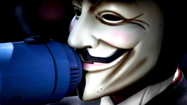 Anonymous mask - Sputnik France