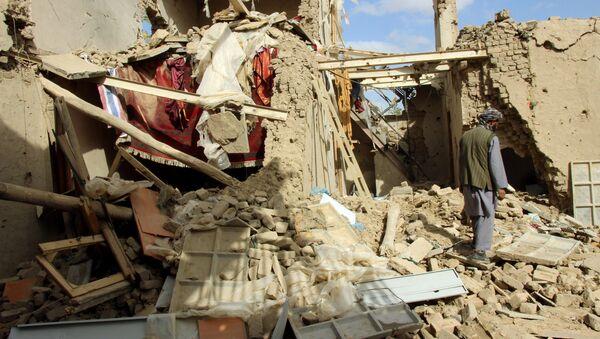 La maison détruite par la frappe aérienne dans la ville afghane de Kunduz - Sputnik France