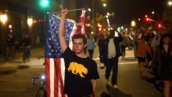 Californie, protestations contre l'élection de Donald Trump - Sputnik France