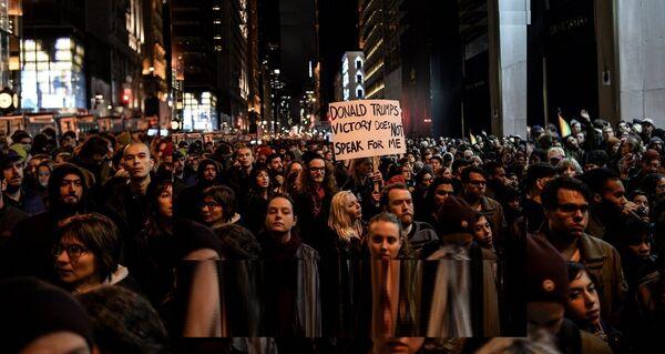 Акция протеста против Д. Трампа в Нью-Йорке - Sputnik France