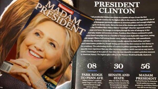La Une de Newsweek annonçant la victoire d'Hillary provoque un tollé - Sputnik France