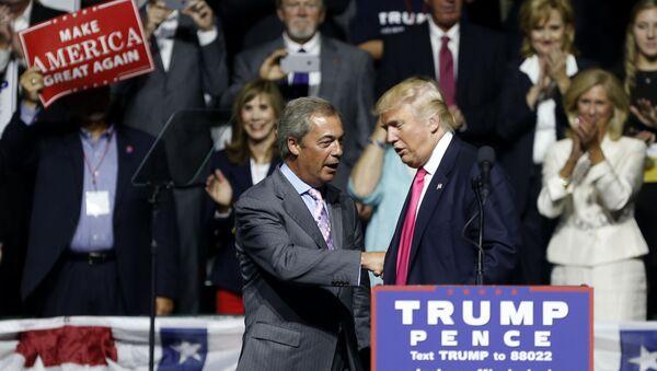 Donald Trump et Nigel Farage - Sputnik France