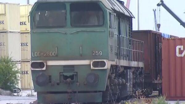 Le premier train chargé de fret humanitaire quitte Tartous - Sputnik France