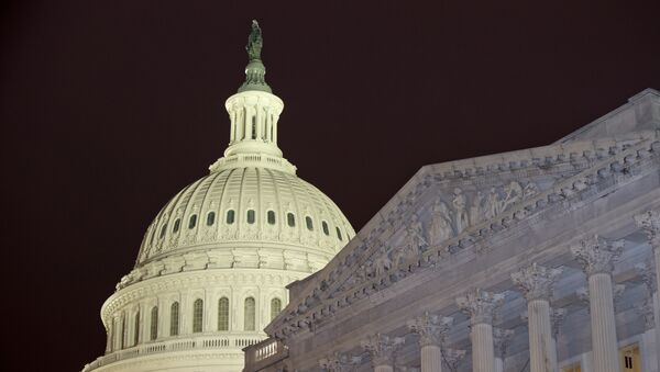 The United States Capitol dome is to the left of the United States Senate, on Capitol Hill Wednesday, Feb. 27, 2013 - Sputnik France