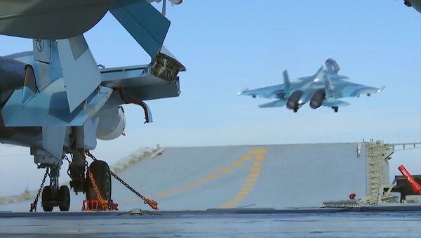 Les chasseurs du porte-avions russe pourraient aller sur la base de Hmeimim en Syrie - Sputnik France