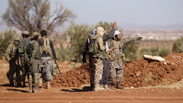 Rebel fighters gather during their advance towards the Islamic State-held city of al-Bab, northern Syria October 26, 2016 - Sputnik France