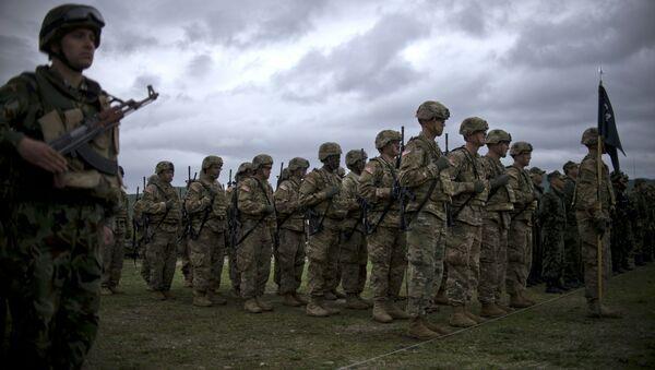 Los soldados estadounidenses durante las maniobras de la OTAN en Europa del Este - Sputnik France