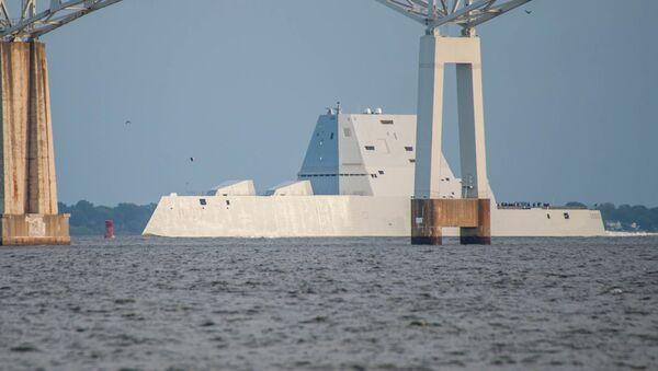 Le destoyer américain USS Zumwalt (DDG 1000) - Sputnik France