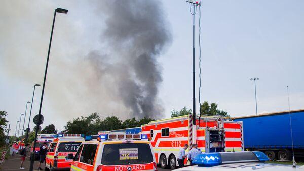 L'incendie à Düsseldorf - Sputnik France