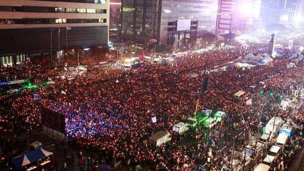 Manifestation record pour la démission de la présidente coréenne - Sputnik France