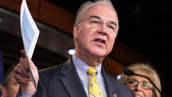 Chairman of the House Budget Committee Tom Price (R-GA) announces the House Budget during a press conference on Capitol Hill in Washington - Sputnik France