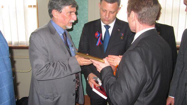 La réunion de la délégation italienne avec le président de la DNR Alexander Zakharchenko - Sputnik France