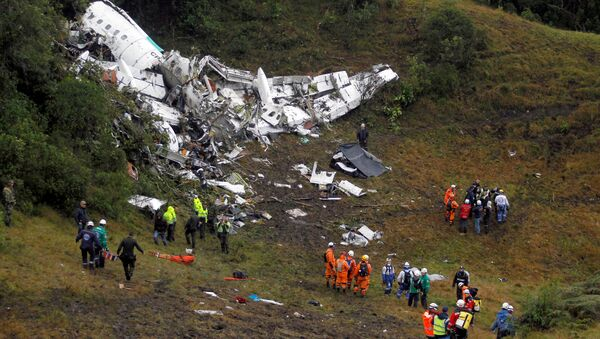Wreckage from a plane that crashed into Colombian jungle with Brazilian soccer team Chapecoense is seen near Medellin, Colombia - Sputnik France