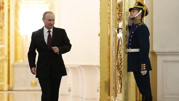 Обращение президента РФ В.Путина с ежегодным посланием к Федеральному собранию - Sputnik France