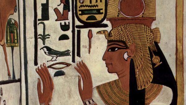 Néfertari sur la paroi de son tombeau. - Sputnik France