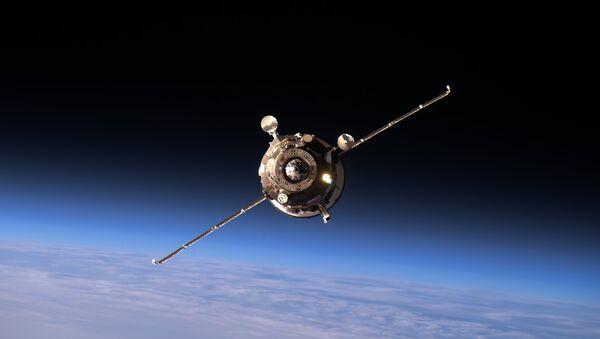 Progress MS-02 approaching the ISS - Sputnik France